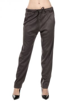Elastic Waist Ecosuede Trousers