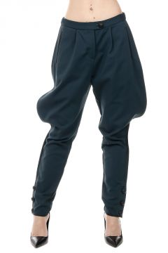 Asymmetric Cotton Blend Trousers