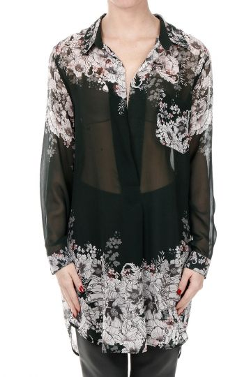 Camicia PRINTED GEORGETTE in Seta