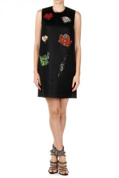 Sleeveless Dress with Paillettes