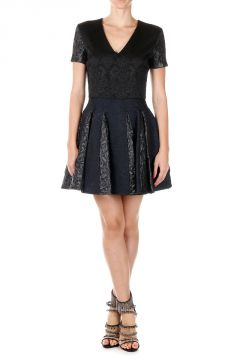 Short Sleeved BROCADE Dress