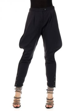 Pantalone in Cotone Stretch con Pinces