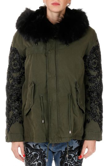 Giubbotto EMBROIDERED JAIS DRAKE PARKA con Perline