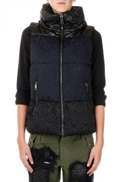 Sleeveless Down Jacket MIXED BROCADE GILET
