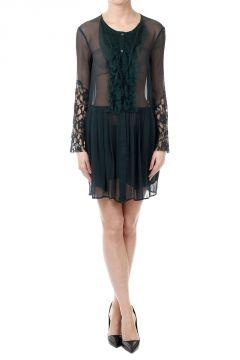 Silk Frilled Georgette Dress