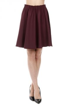 Virgin Wool Blend Flared Skirt