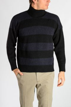 Striped Alpaca Wool Sweater