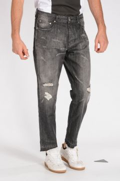 Jeans in Denim Distressed 18 cm