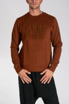 Crewneck Sweatshirt with Embroidered Logo
