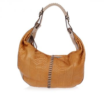Python Leather Shoulder Bag