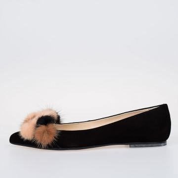 Ballet Flat ANNELUCIE with real fur
