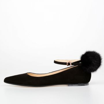 Ballet Flat ANNEJOLIE with Real Fur