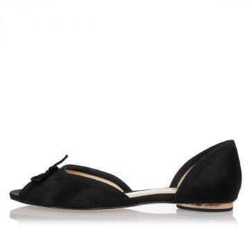 Leather ANNELISE PONY Ballet Flat
