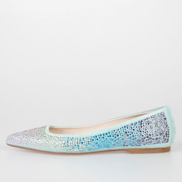 Leather Swarovki ANNEJADE Ballet Flat
