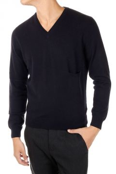 Cashmere Sweater with breast pocket