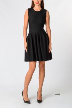 Flared Glitter Wool blend Dress
