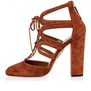 Suede Leather HOLLI Sandals 11 cm