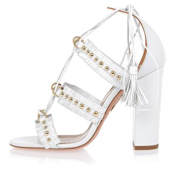 Leather TULUM Sandals With Studs 10 cm
