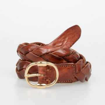 20mm Woven Leather Belt