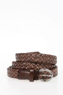 Leather Braided Belt 20 mm
