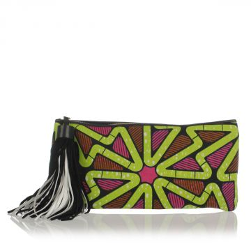 LUISA Fabric Clutch Bag
