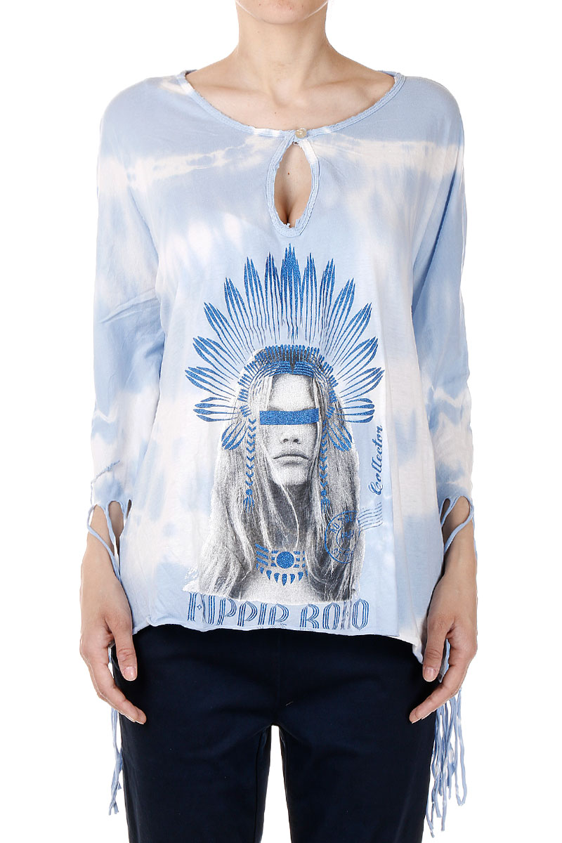 102a45d203 Women HIPPIE BOHO Stretch Cotton Poncho - Glamood Outlet