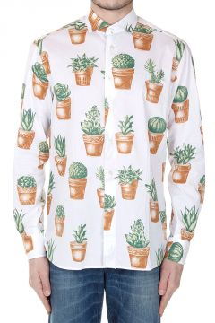 Plants Printed Slim Fit Shirt