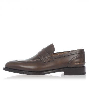 Washed Leather Loafers