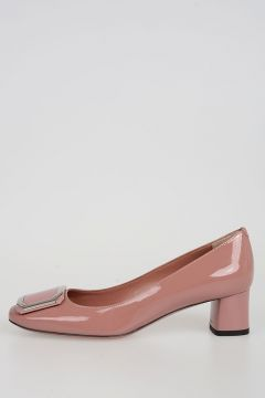 Patent Leather Heeled Ballet Flats