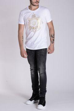 PIERRE BALMAIN Jeans in Denim Destroyed 17 CM