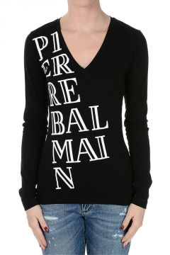 PIERRE BALMAIN long Sleeve V Neck t-shirt