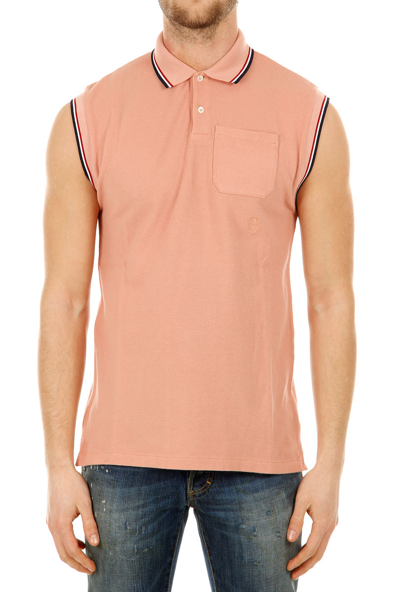 balmain men sleeveless pink polo shirt spence outlet