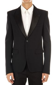 One button single breasted smoking jacket