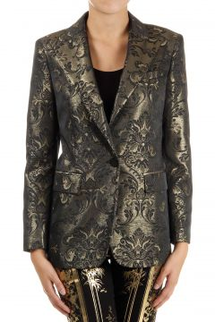 Single breasted Blazer damask effect one button