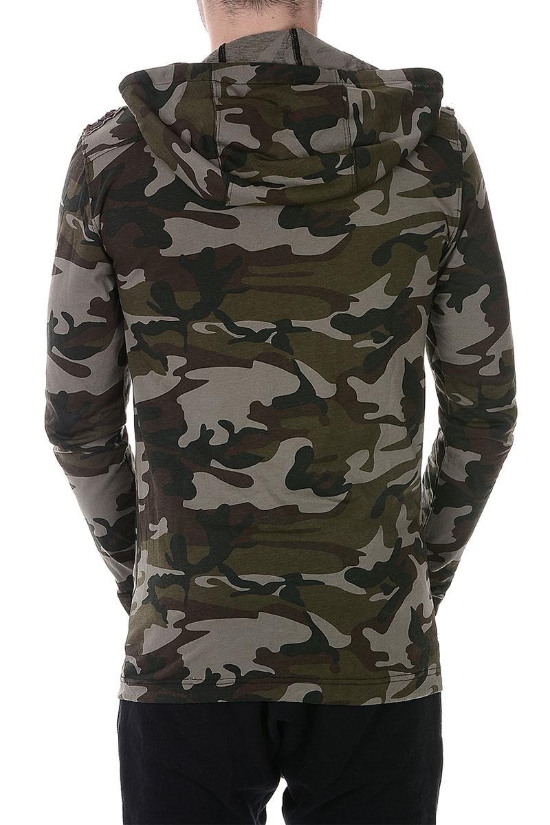 balmain men camouflage long sleeve t shirt spence outlet. Black Bedroom Furniture Sets. Home Design Ideas