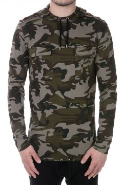T-shirt a Manica Lunga Camouflage