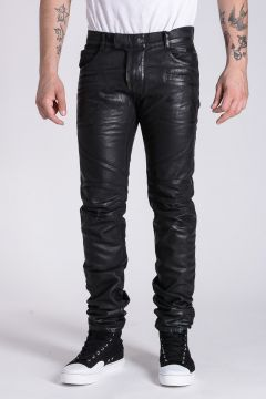 17 CM Wax Denim Biker Pants