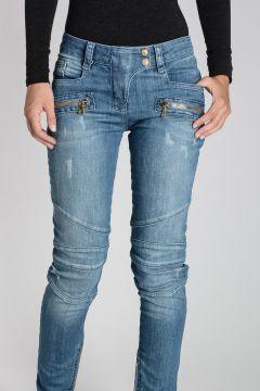 Stretch Denim Jeans 13cm