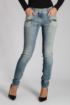 Stretch Denim Jeans 13cm