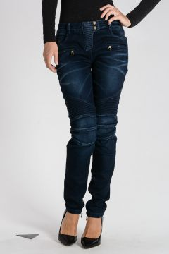 Cotton Blend embroidery Jeans 12 cm