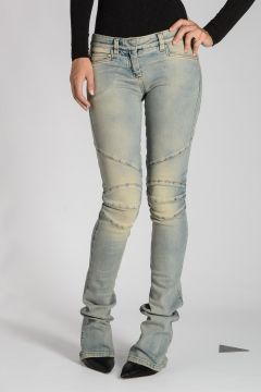 Cotton Blend Boot Cut Jeans 20 cm