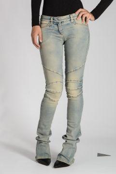 Jeans in Misto Cotone Modello Boot Cut 20 cm