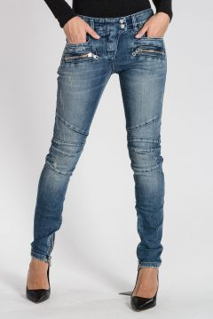 Stretch Denim Jeans 12cm