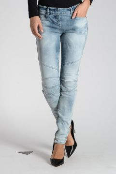 Stretch Denim Jeans 12 cm