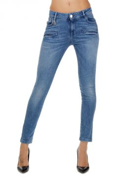 13 cm Stretch Denim Capri Jeans