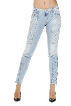 Jeans Trapuntato 13 cm