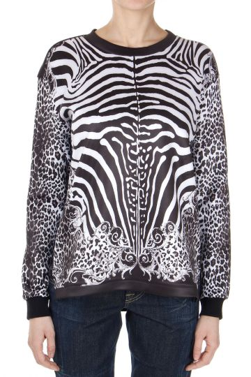 T-Shirt manica lunga in Animalier