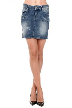 Mini gonna in Jeans Stretch Denim