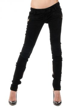 Suede Leather Pants