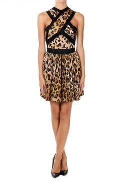 Sleeveless Leopard Print Dress